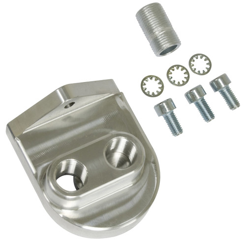 """Empi 16-9513 Billet Oil Filter Adapter Kit With 3/8"""" NPT, Fits Fram PH8A And HP1"""