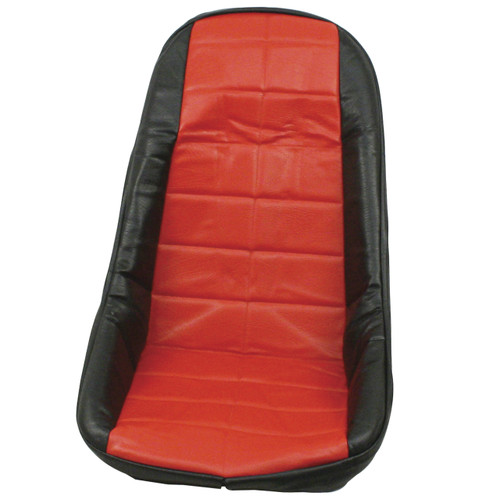 Empi 62-2611 Red Vinyl Low Back Bucket Seat Cover