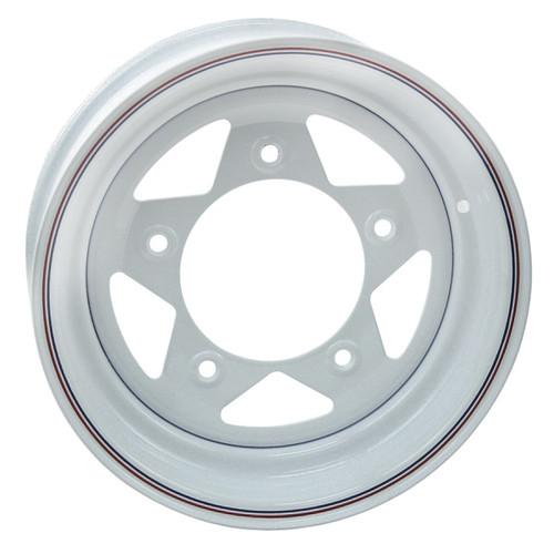 "Empi 10-1017 Vw Baja Bug 15X8  5 Lug White Steel Spoke Wheel 3"" Back Space"