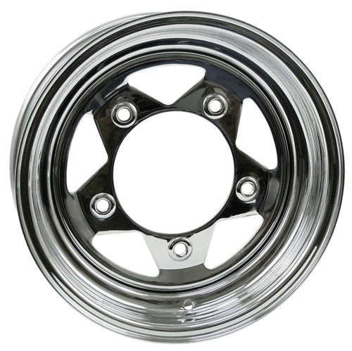 "Empi 10-1024 Vw Baja Bug 15X10  5 Lug Chrome Steel Spoke Wheel 3-1/2"" Back Space"