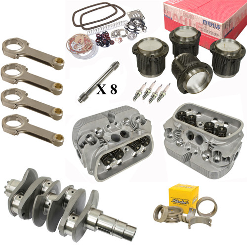 Vw Bug Engine Kit Hi Performance 2180cc With Racing Cylinder Heads, Mahle Pistons