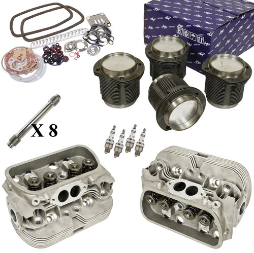 Vw Bug Engine Kit Stock 1641cc With New Stock Cylinder Heads Top End Only