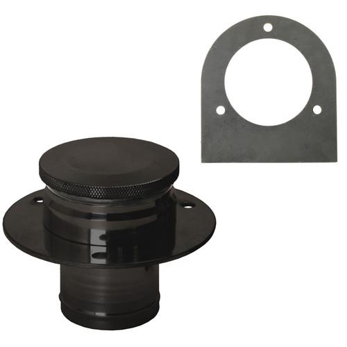 Black Aluminum Fuel Tank Filler Neck, Gas Cap And Weld-On Steel Bracket