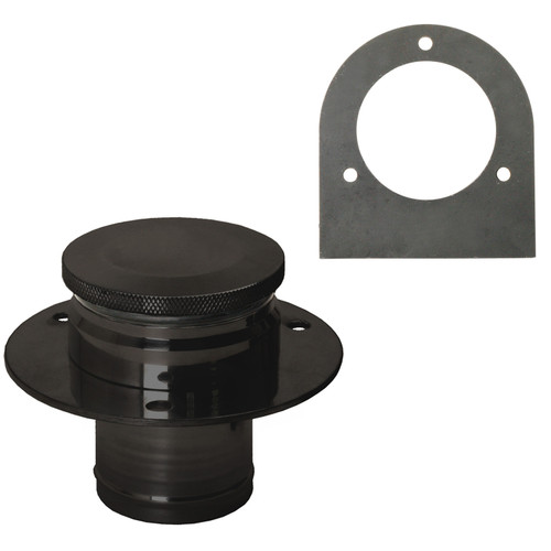 Black Aluminum Fuel Tank Filler Neck, Gas Cap And Weld-On Steel Bracket