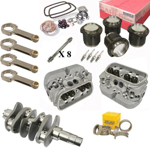 Vw Bug Engine Kit Hi Performance 2180cc With Racing Cylinder Heads, Mahle Pistons