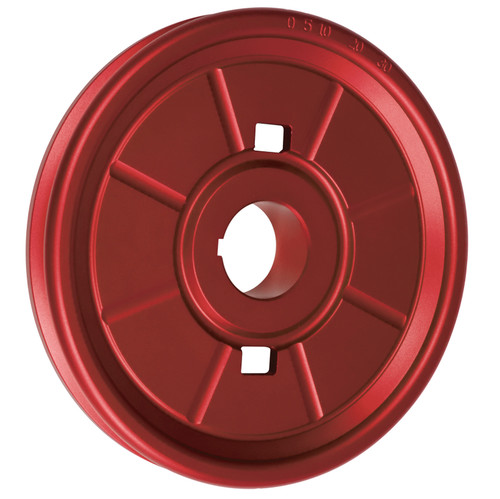 Empi 18-1073 Stock Design Aluminum Vw Crankshaft Pulley, Red Anodized