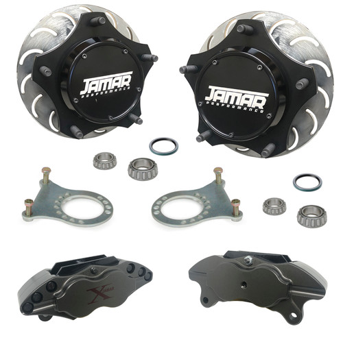 Jamar Performance USA Pro-X Front Disc Brake Kit, Combo Spindles 4 Piston Calipers