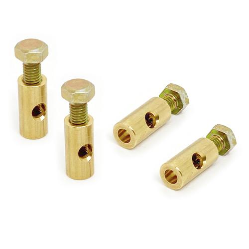 Vw Carburetor Barrel Nut - Solex 30PICT/Solex 34PICT. Vw Heater Cable Nut, 4 Pack