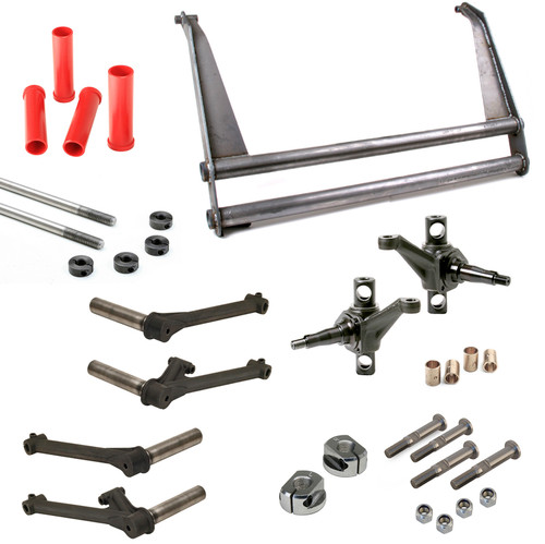 """Vw Bug Suspension Kit 6"""" Wide Beam 10"""" Towers, 1-1/2X3/4 Trailing Arms Combo Spindles Heim"""