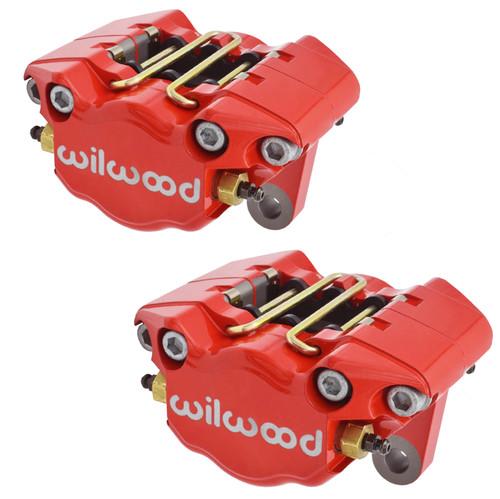 Empi 16-2526-R Vw Bug, Ghia Red Wilwood 2 Piston Caliper Set W/Pads, Pair