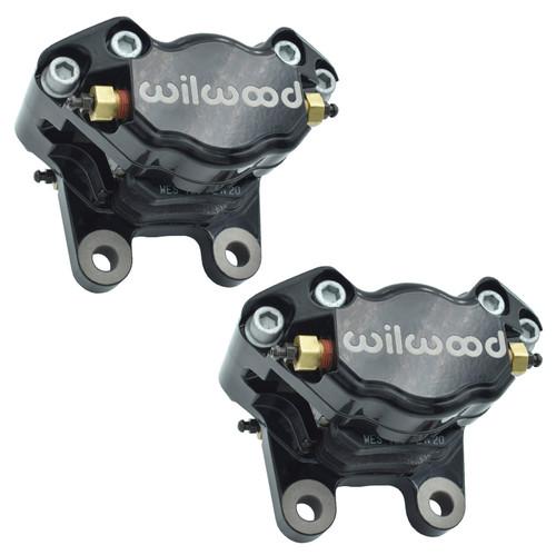 Empi 16-2526-B Vw Bug, Ghia Black Wilwood 2 Piston Caliper Set W/Pads, Pair