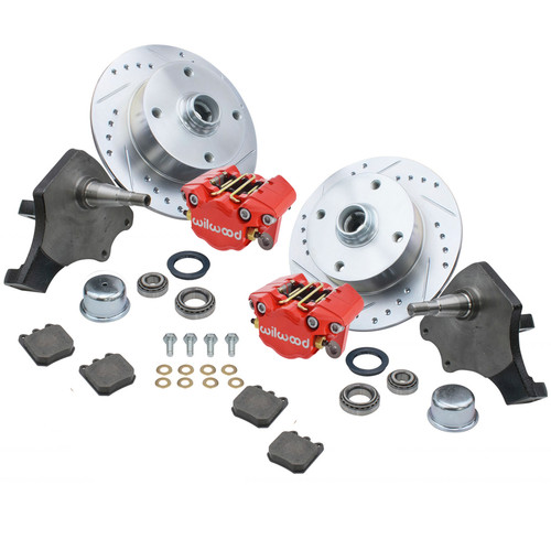 Empi 22-6151-R Vw Bug Front Wilwood Disc Brake Kit Drop Spindle 4 Lug Vw 1966-77