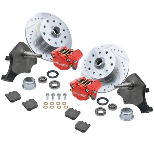 Empi 22-6152-R Vw Bug Frt Wilwood Disc Brake Kit Drop Spindle 5Lug Porsche/Chevy