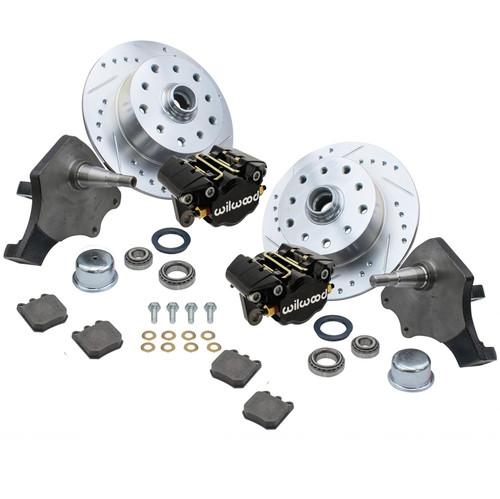 Empi 22-6152-B Vw Bug Frt Wilwood Disc Brake Kit Drop Spindle 5Lug Porsche/Chevy