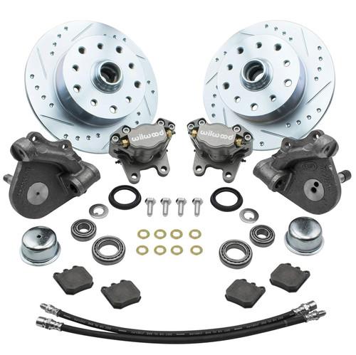 Empi 22-6153 Vw Bug Front Wilwood Disc Brake Kit Drop Spindle 5Lug Porsche/Chevy