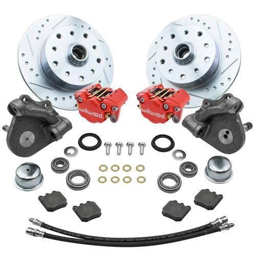 Empi 22-6153-R Vw Bug Frt Wilwood Disc Brake Kit Drop Spindle 5Lug Porsche/Chevy