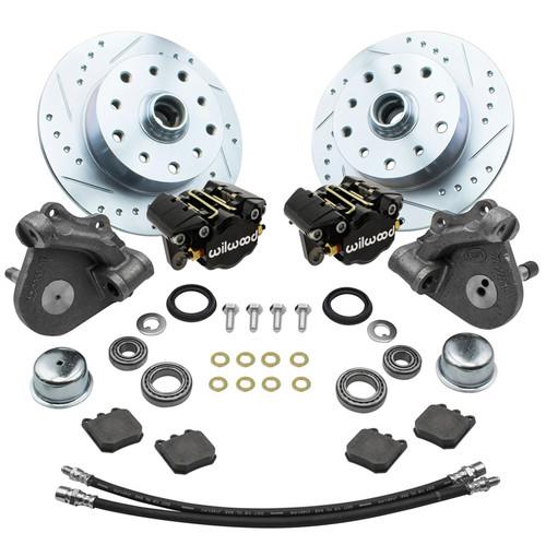 Empi 22-6153-B Vw Bug Frt Wilwood Disc Brake Kit Drop Spindle 5Lug Porsche/Chevy