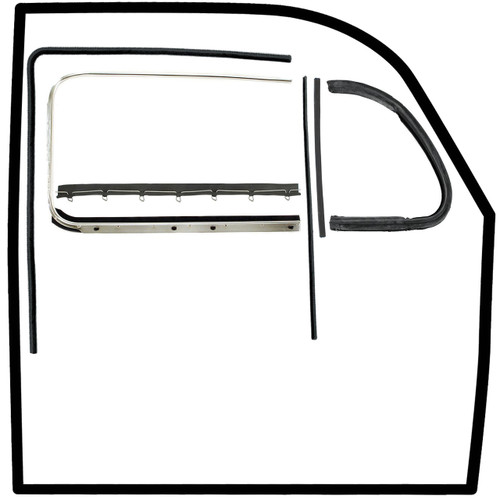 Vw Bug Door Rubber F/Roll Up Window Glass, U Channels, Door & Vent Seals 1952-64