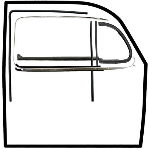 Vw Bug Door Rubber F/Roll Up Window, U Channels, Door & Vent Seals 1965-6/1968