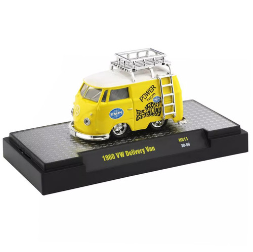 Empi 2098 Vw Bus Yellow Delivery Van Die Cast Car. M2 Machines 1:64 Scale