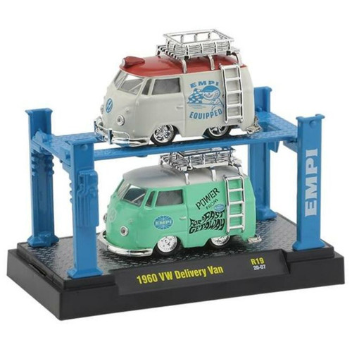 Empi 2099 Vw Bus Combo Pack Delivery Van Die Cast Car. M2 Machines 1:64 Scale