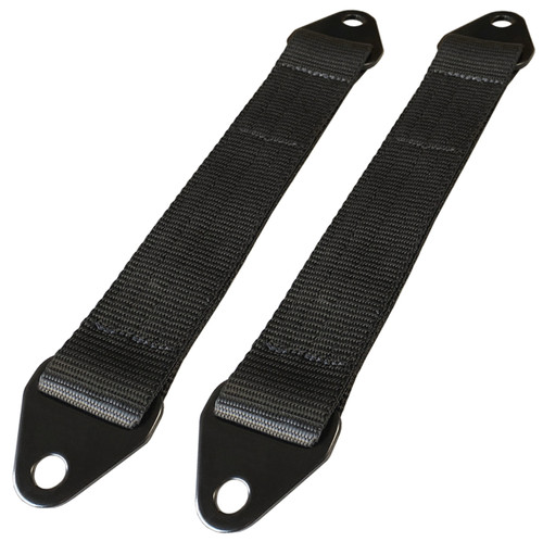 "Moore Parts 12"" Off-Road Suspension Limit Straps With Black Tabs, Pair"
