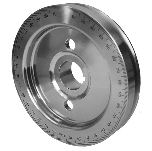 Silver Equalizer Vw Steel 5Lbs Crankshaft Stock Size Pulley With Timing Marks
