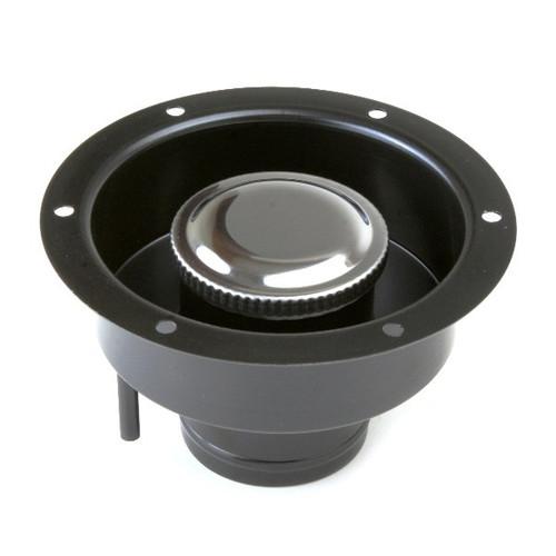 """Steel Remote Gas Cap & Filler Neck / Fits 2-1/2"""" Fuel Hose & Tubes"""