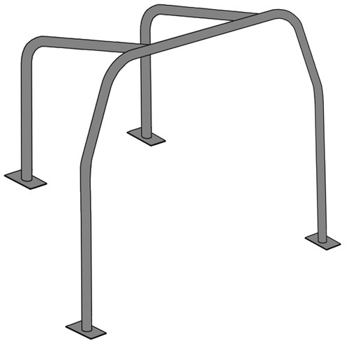 Vw Bug Half Roll Cage / Show Cage - 4 Point Mounting, Welding Required