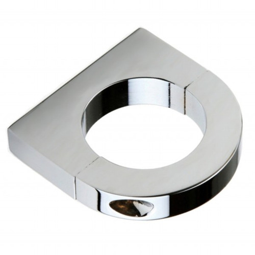 "Chrome Aluminum Clamp Bracket With 1/4""-20 Threads For 1-1/2"" Tube"