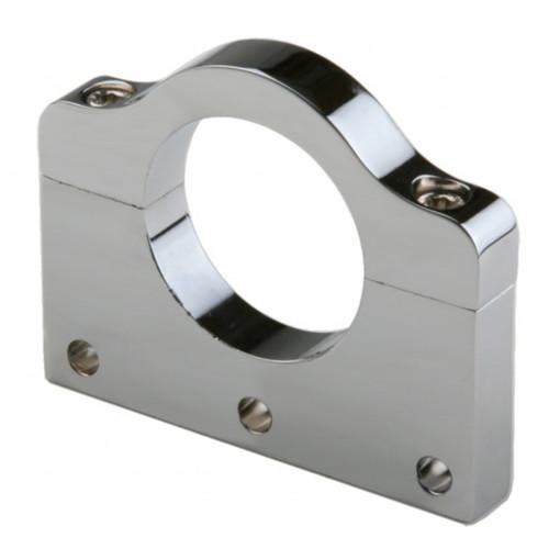"Polished Aluminum Clamp Bracket 3 Side Drilled Design For 1-1/2"" Tube"