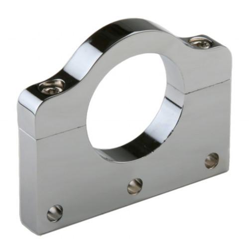 "Polished Aluminum Clamp Bracket 3 Side Drilled Design For 1-3/4"" Tube"