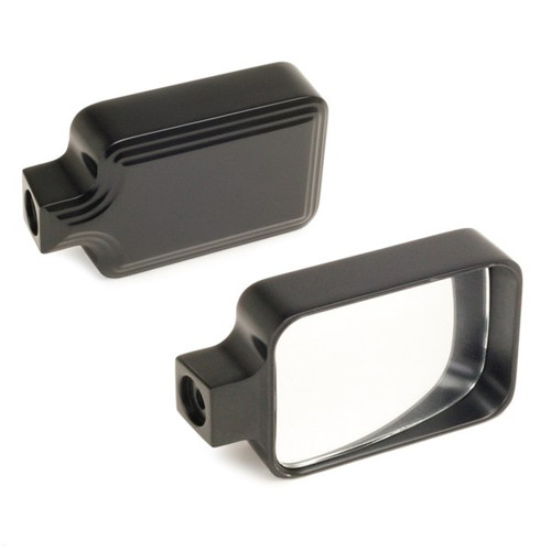 New School Black Side View Mirror With Flat Glass