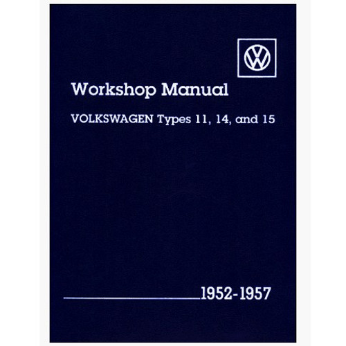 Bentley Shop Manual For Type 1 Bug & Ghia 1952-1957 Air-cooled Volkswagens