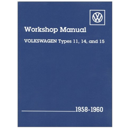 Bentley Shop Manual For Type 1 Bug & Ghia 1958-1960 Air-cooled Volkswagens