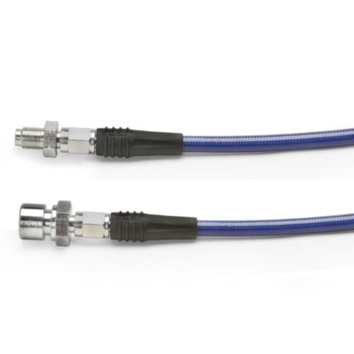 "Blue Steel Braided Brake Hose For Vw Front 1956-1964 / 19"" Long"