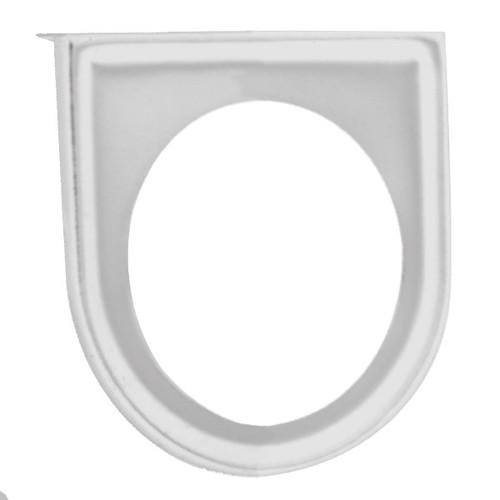 """Chrome Under Dash 1 Hole Gauge Panel For 2-1/16"""" Gauges"""