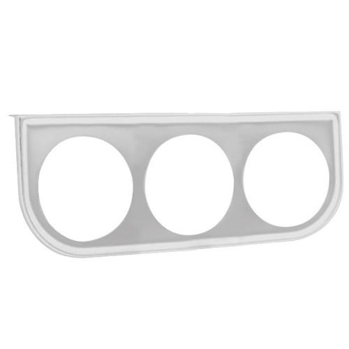 """Chrome Under Dash 3 Hole Gauge Panel For 2-1/16"""" Gauges"""