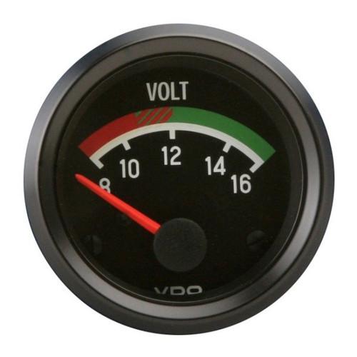 """VDO Cockpit Series 2-1/16"""" Voltmeter Gauge 332041"""