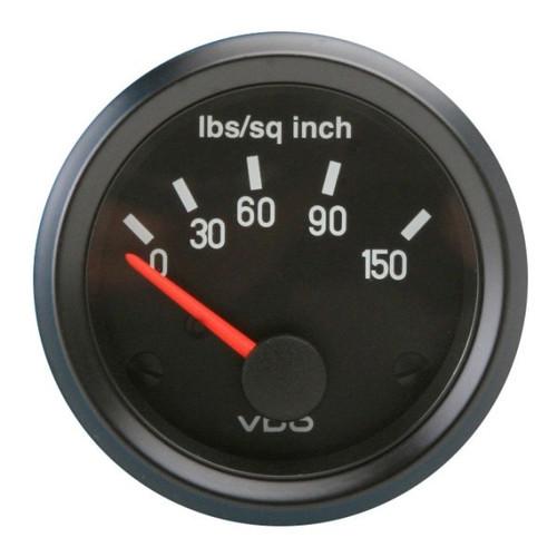"""VDO Cockpit Series 2-1/16"""" 150 PSI Oil Pressure Gauge 350041"""