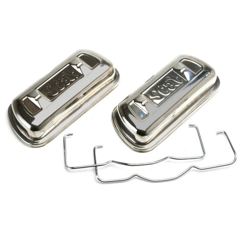 Scat 80240T Stainless Steel Clip On Valve Covers - Vw Engine 1600cc-2275cc Pair
