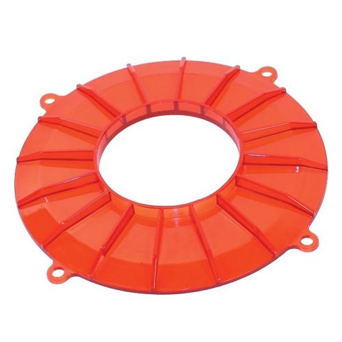 Red Finned Vw Generator/Alternator Backing Plate Cover