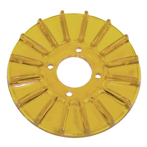 Empi 8928 Finned Alternator/Generator Yellow Pulley Cover, Dune Buggy Vw Baja Bug