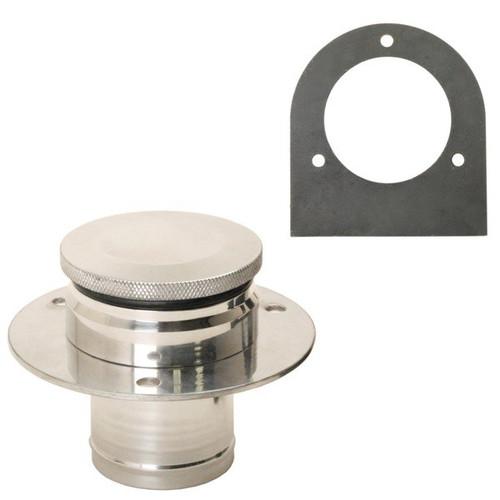 Empi 17-2530 Aluminum Fuel Tank Filler Neck, Gas Cap And Weld-On Steel Bracket