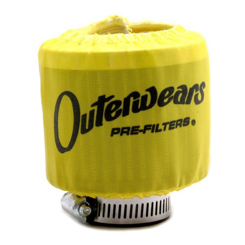 """Yellow Outerwear Prefilter Round 2"""" Diameter 10-1132-04"""