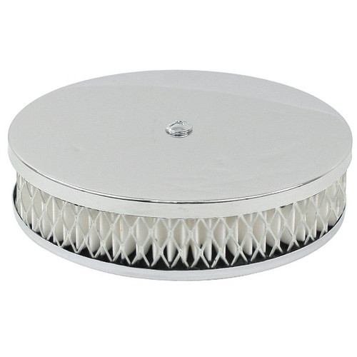 Empi 9076 Chrome Round Air Cleaner For Classic Vw Air-cooled Volkswagens