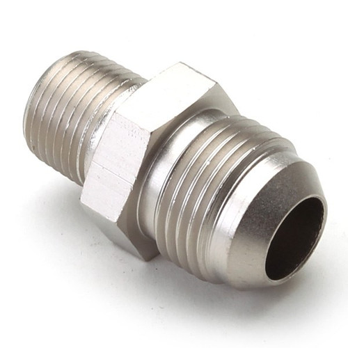 """An Hose Adapter Fitting - Male 1/2"""" NPT To Male #10 / Straight-Steel"""