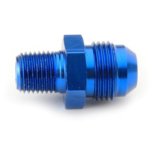 """An Hose Adapter Fitting - Male 1/4"""" NPT To Male #8 / Straight-Blue"""
