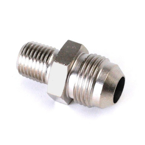 """An Hose Adapter Fitting - Male 1/4"""" NPT To Male #8 / Straight-Steel"""