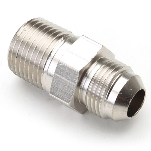 """An Hose Adapter Fitting - Male 3/8"""" NPT To Male #8 / Straight-Steel"""